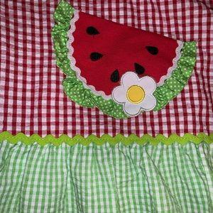 Emily Rose dress girls size 5 summer watermelon